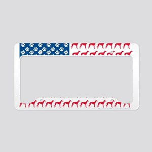Patriotic Greyhounds License Plate Holder