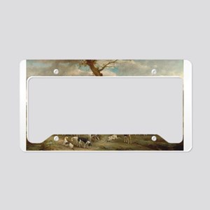 Vintage Painting of the Hunt License Plate Holder