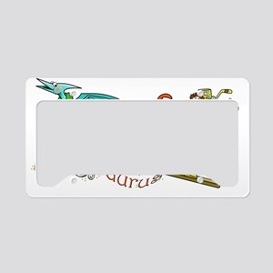 Santasaurus License Plate Holder