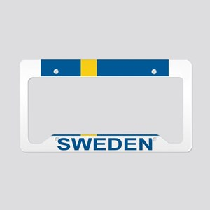 sweden-flag-lebeled License Plate Holder