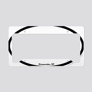 Greenville South Carolina EUR License Plate Holder