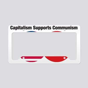 CapitalismSupportsComm1 License Plate Holder