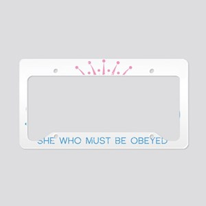 SWMBO_BLUE License Plate Holder