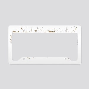 Mud Squad White License Plate Holder