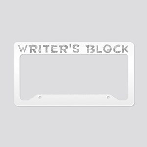 Writers Block License Plate Holder