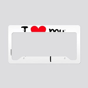 iheartwhitegermanshepherd License Plate Holder