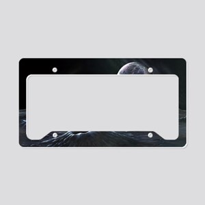Pluto seen from Charon, artwo License Plate Holder