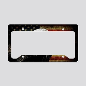 Bald Eagle and Flag License Plate Holder