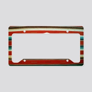 Old Mexican Serape Shoulder B License Plate Holder
