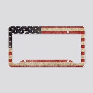 US Faded Shoulder License Plate Holder