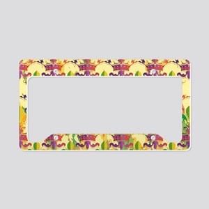 MardiGrasLoveCrPmBeBag License Plate Holder
