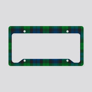 Black Watch Tartan Plaid License Plate Holder