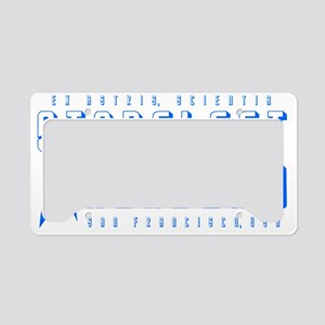 Starfleet Blu License Plate Holder