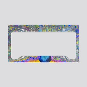 Peacock Dance License Plate Holder
