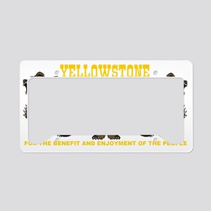 two_bears_YNP_transparent License Plate Holder