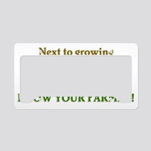 Know Your Farmer License Plate Holder