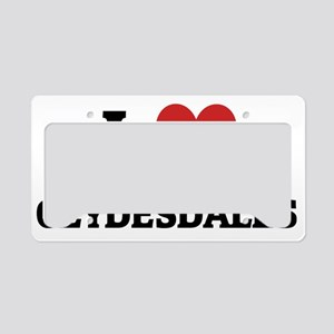 CLYDESDALES License Plate Holder