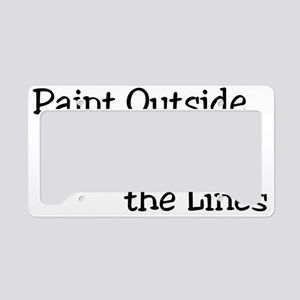 Paint Outside The Lines License Plate Holder