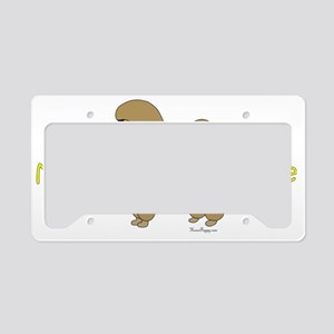PoodleApricotBrother License Plate Holder