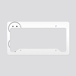 Alt Universe Me White License Plate Holder