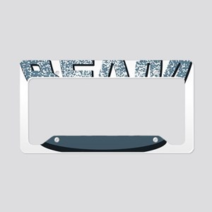 Beam Me Up Platform License Plate Holder