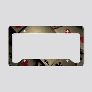 Playing Cards License Plate Holder