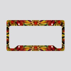 Fractal Julian Kaleidoscope License Plate Holder