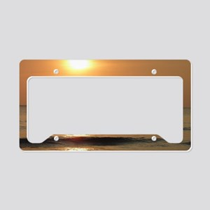 Fishing at Sunset License Plate Holder