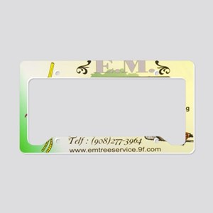 EM Tree Service License Plate Holder