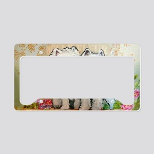 Spring Westies License Plate Holder