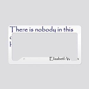WarrenQuote10x10 License Plate Holder