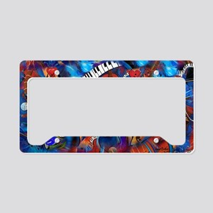 Guitar Jazz Music Magic License Plate Holder