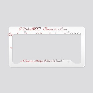 Hope Over Pain - Red  Black B License Plate Holder