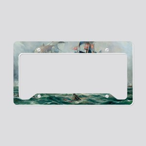 Battle Ships At War Painting License Plate Holder