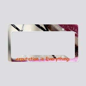 Black Widow greeting License Plate Holder