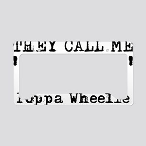 Poppa Wheelie Dirt Bike Motoc License Plate Holder