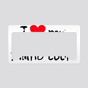 iheartmainecoon License Plate Holder