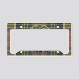 Forest Retreat Plaid License Plate Holder