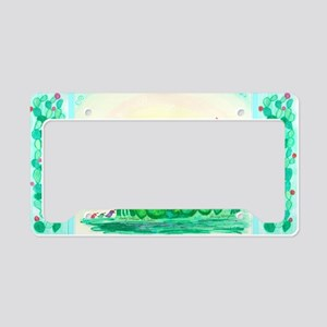 Curlies in Cactus with Border License Plate Holder