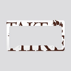 Take a Hike Paw License Plate Holder