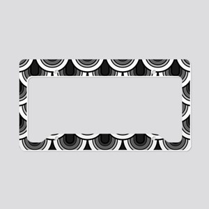 Seamless retro style pattern License Plate Holder