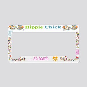Hippie Chick At Heart Frame License Plate Holder