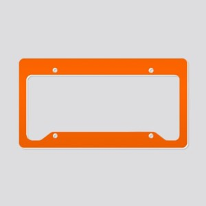 License Plate Holder Uni Orange