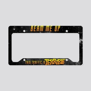 Beam Me Up License Plate Holder