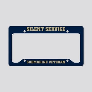 Silent Service Submarine vete License Plate Holder