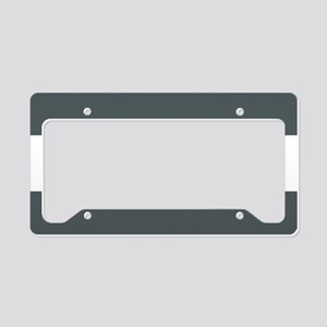 Charcoal Gray Stripes License Plate Holder