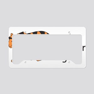 T is for Tiger License Plate Holder