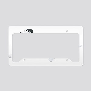 Sitting Dalmatian License Plate Holder