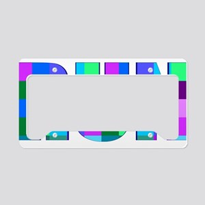Run Squares License Plate Holder