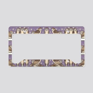 Art Nouveau Owls License Plate Holder